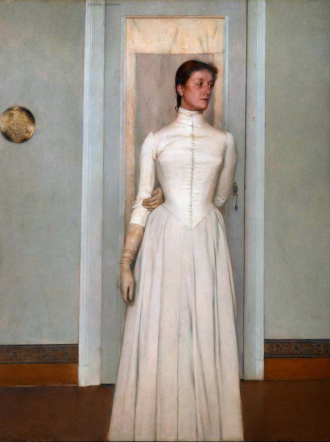 By Georges Jansoone ( JoJan ) - Artist :  Fernand Khnopff  - Own work (Own photo), Public Domain, https://commons.wikimedia.org