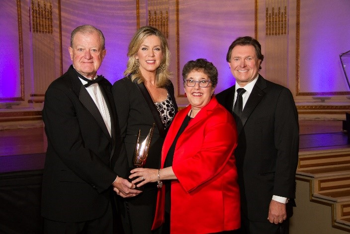 Jim Thompson, President, Broadcasters Foundation of America; Deborah Norville, Anchor, Inside Edition; Emily Barr, President/CEO Graham Media Group; Dan Mason, Chairman, Broadcasters Foundation of America