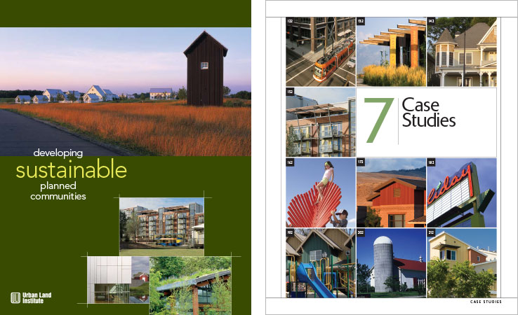 Book Design Portfolio: Architecture, Urban Development Book: Developing Sustainable Planned Communities