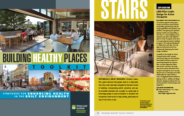 Book Design Portfolio: Architecture, Urban Development Book: Building Healthy Places Toolkit