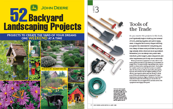 Book Design Portfolio: Home and garden design book: 52 Backyard Landscaping Projects