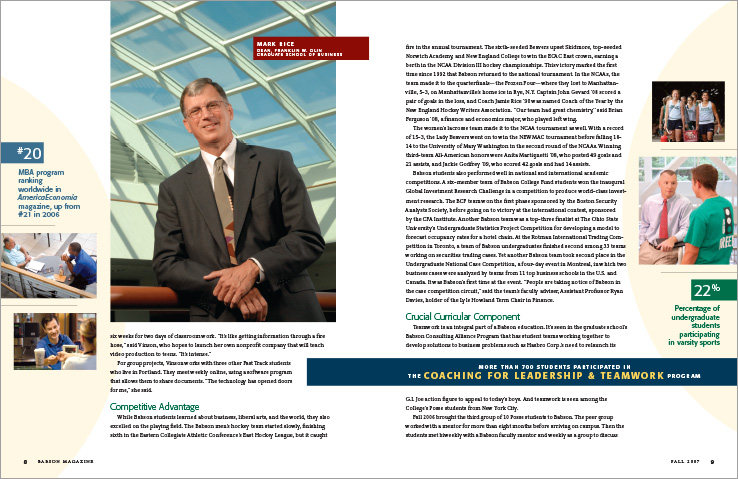 Corporate Annual Report Portfolio: President's Report: Babson College.