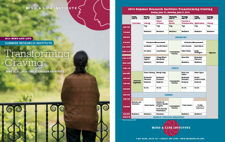 Program & Catalog Design: Summer Research Institute Program: Mind & Life Institute