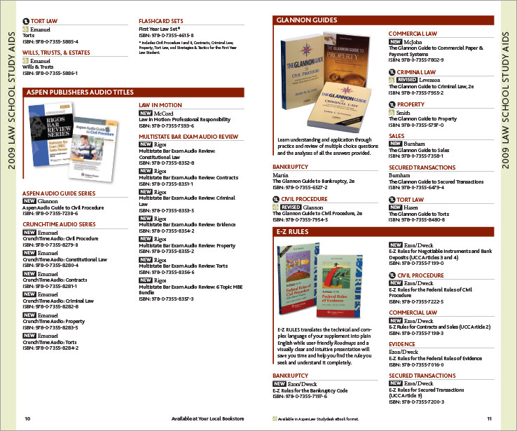 Program & Catalog Design: Law School Book Catalog: Wolters Kluwer
