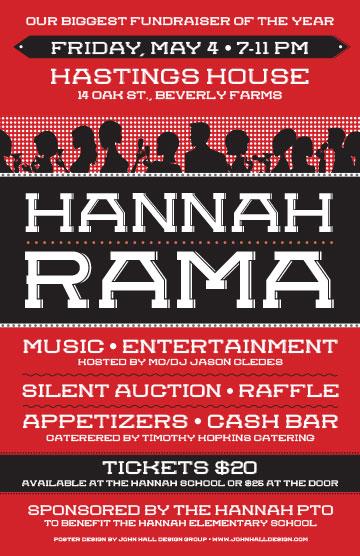 Posters & Signage Design Portfolio: Hannahrama Poster: Hannah Elementary School.