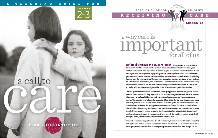 Program & Catalog Design: Call to Care Curriculum Guide : Mind & Life Institute