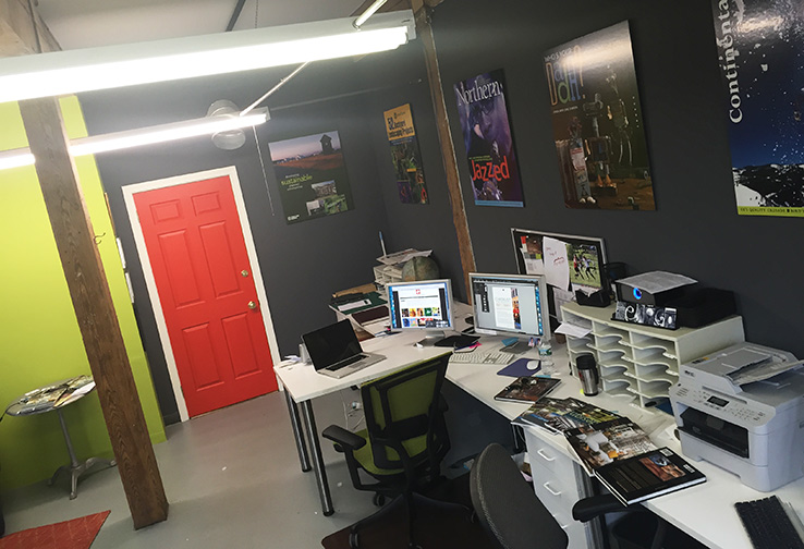 Our graphic design studio at Porter Mill in Beverly, Massachusetts