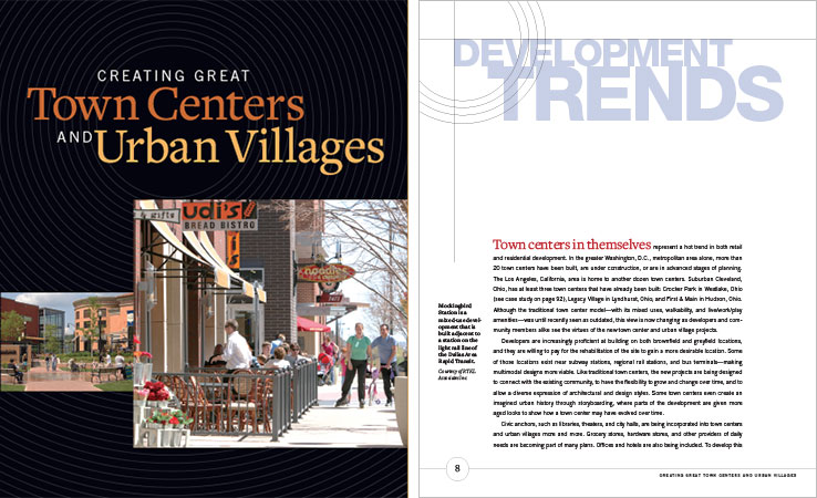 Book Design Portfolio: Urban design book: Creating Great Town Centers and Urban Villages