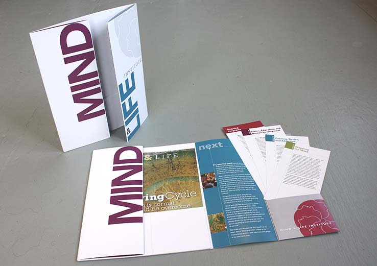 Marketing Collateral Design Portfolio: Donor Kit: Mind & Life Institute.