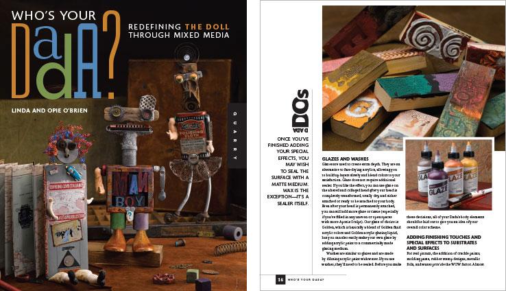 Book Design Portfolio: Arts & Crafts Book: Who's Your Dada