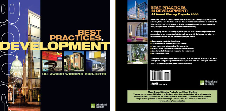 Book Design Portfolio: Architecture, Urban Development Book: ULI Awards Book