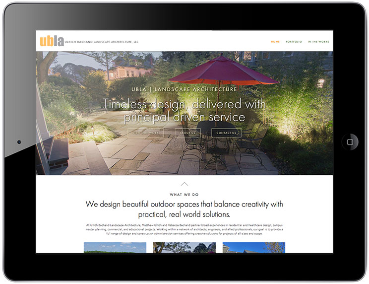UBLA Landscape Architecture website