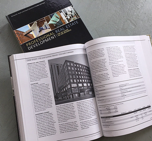 Professional Real Estate Development , a 416-page reference book for real estate developers, which we produced for the Urban Land Institute.