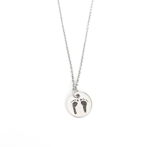 jewellery footprint handprint heart necklace necklaces silver hand on