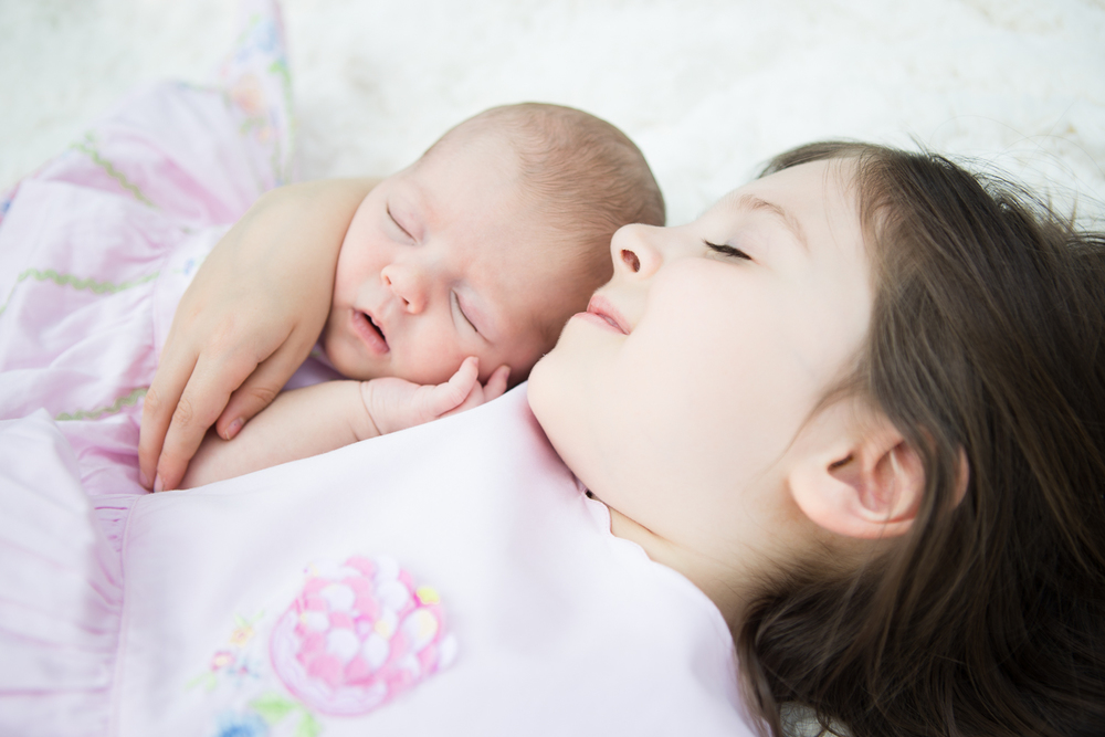 Sisters | Main Line Philadelphia Newborn Photographer