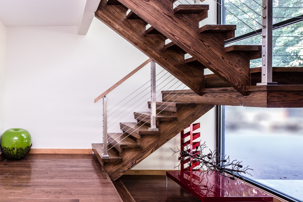Modern Staircase | Architecture by Bloomfield Architects | Main Line Philadelphia