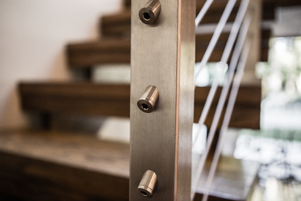 Metal and Wire Railing | Architecture by Bloomfield Architects