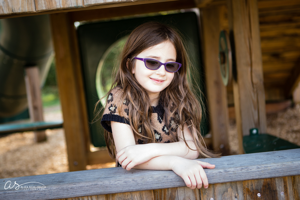 Photo of female child at playground