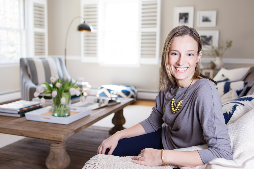 Interior designer Larina Kase in one of her beautiful rooms