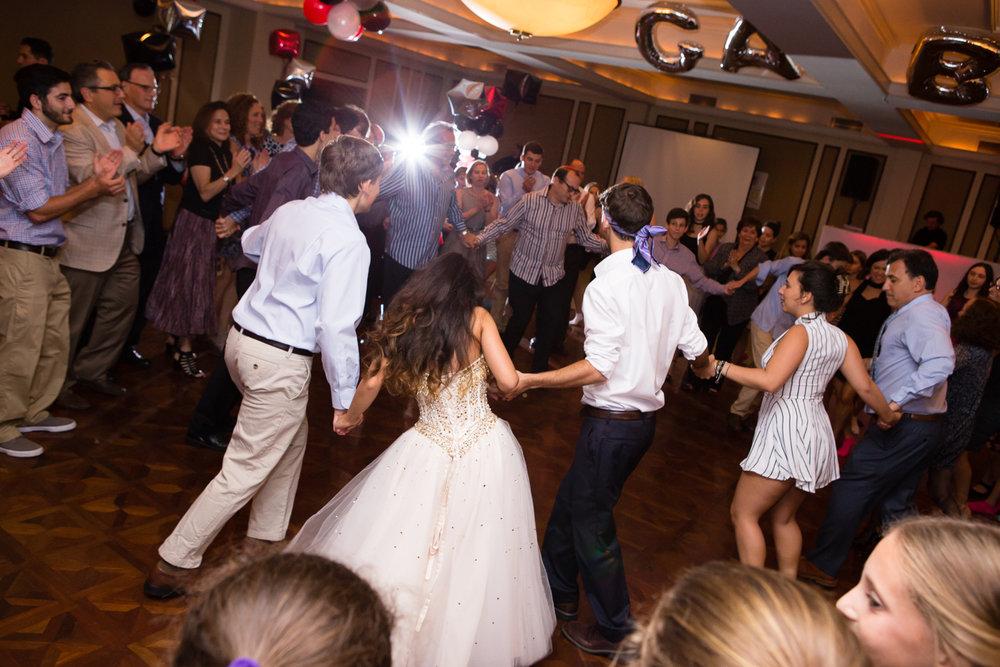 Photo of hora dancing at Bat Mitzvah