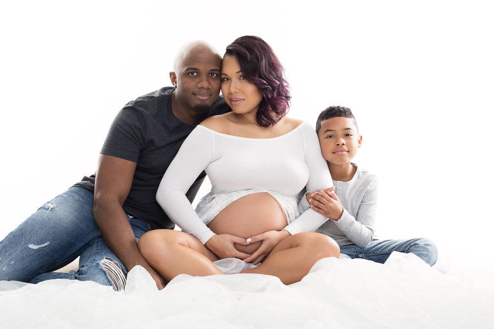 Backlit Family Maternity by Aliza Schlabach Photography