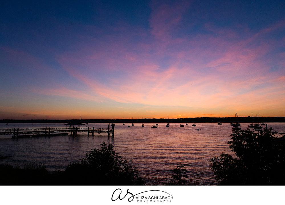 Photograph of the Chesapeake Bay at dusk
