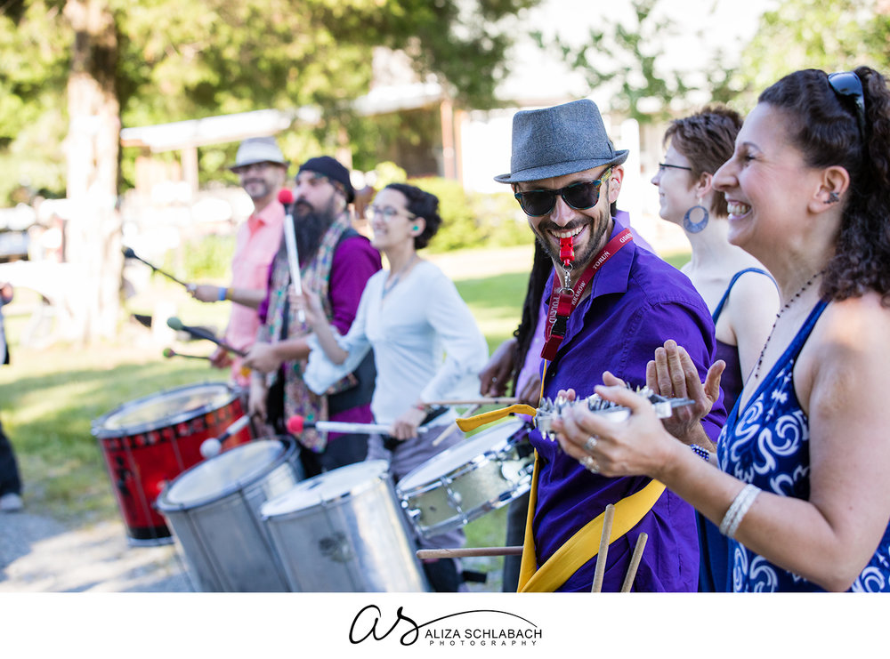 Photo of a steel drum band during a wedding