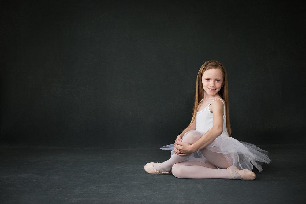 Studio portrait of a little ballerina