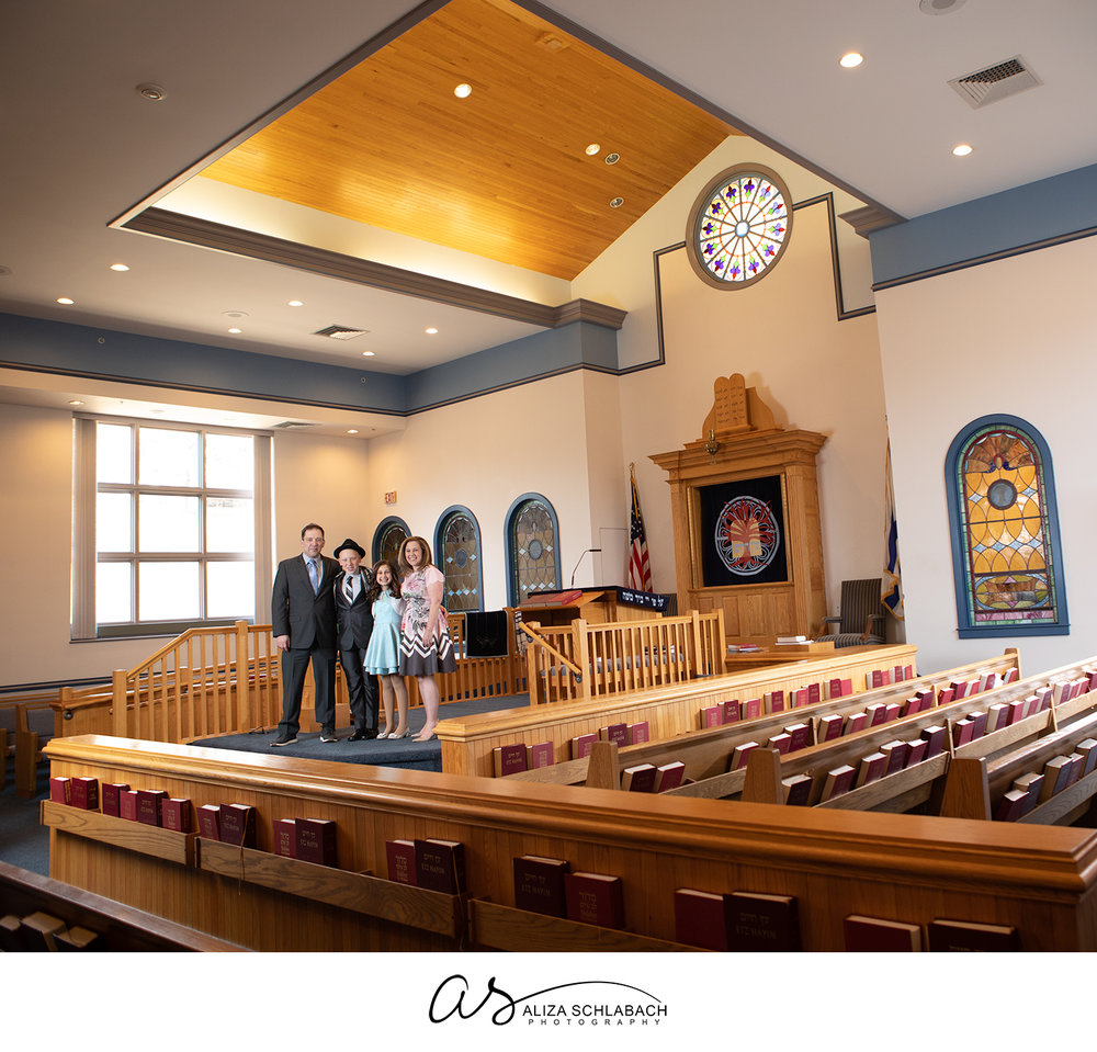 Family Bar Mitzvah photo at Kesher Israel in West Chester)