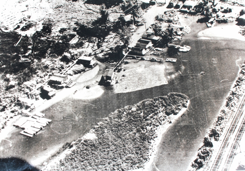 An aerial photo of Shantytown in the 1960s, provided by Leo Bower.