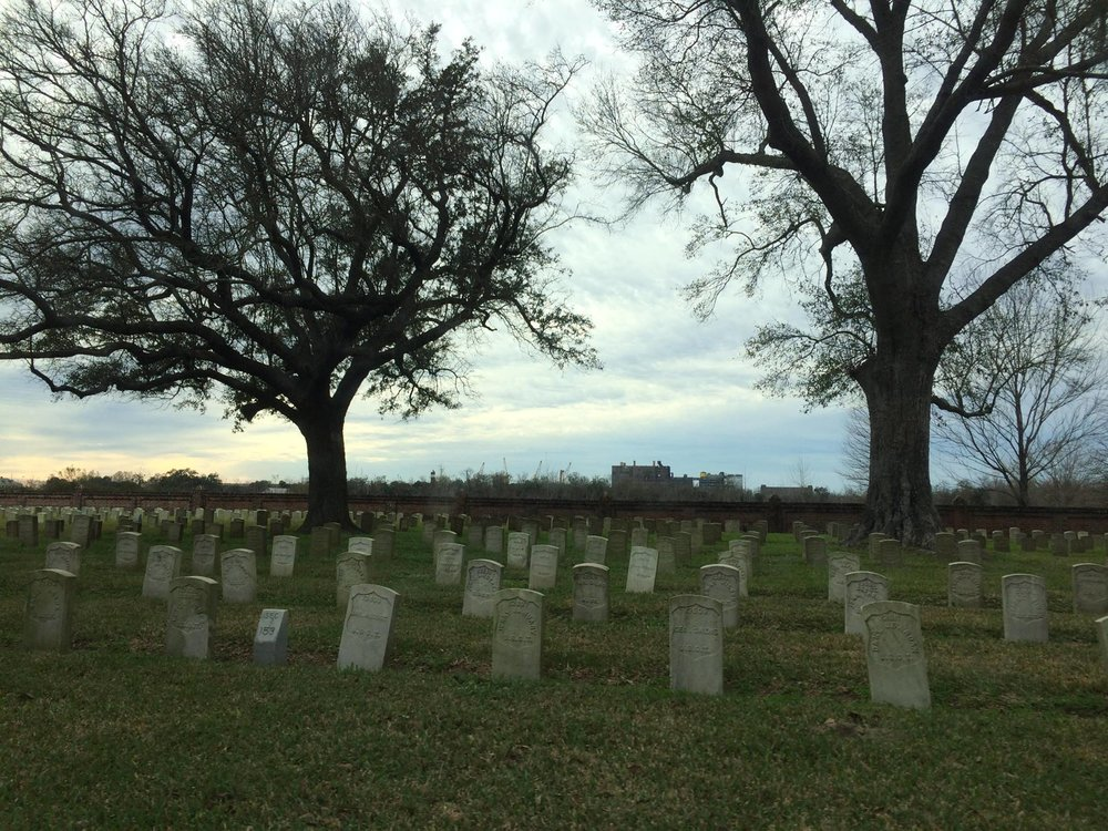 Chalmette National Cemetery in New Orleans.