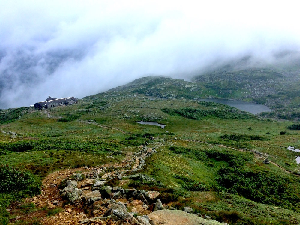 The Lakes of the Clouds Hut in the Presidentials, near where Curtis and Ormsbee succumbed to the elements in 1900.