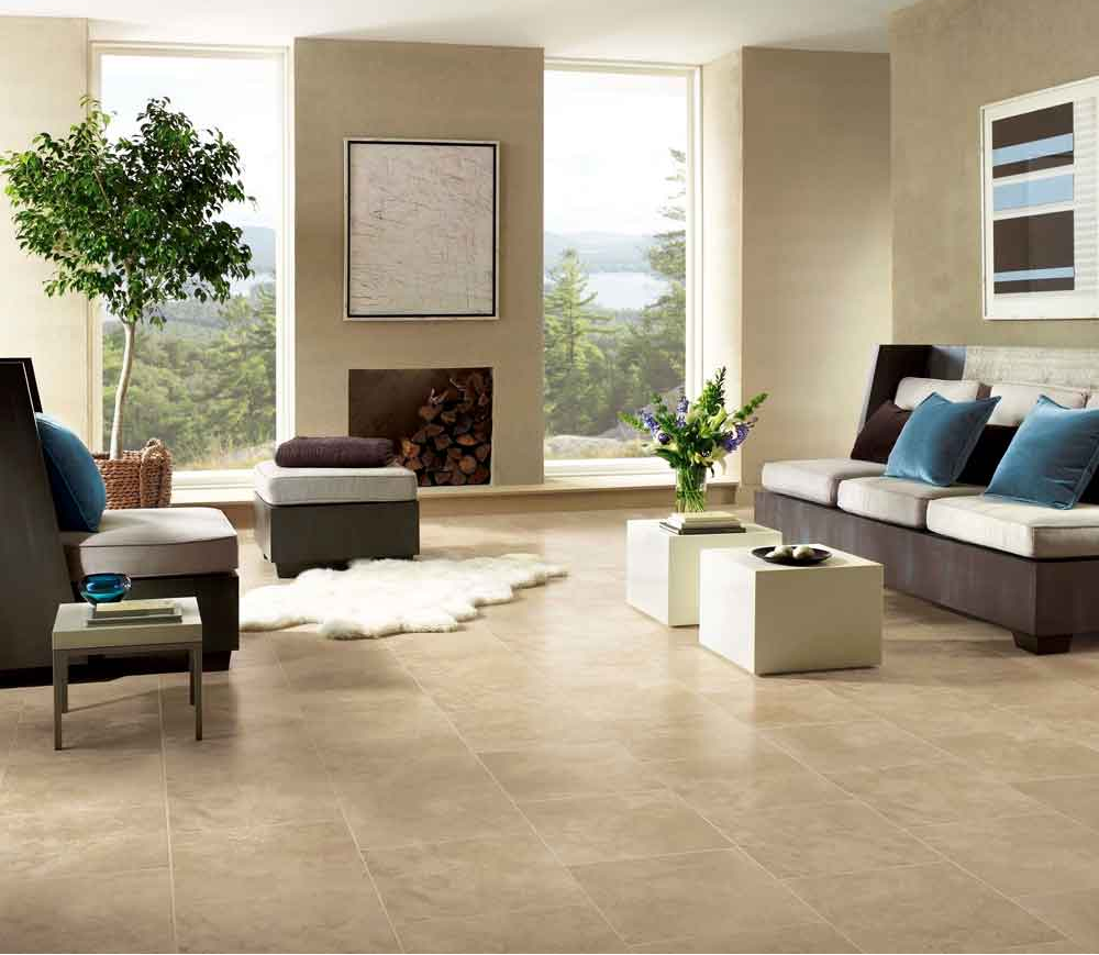 Tile effect laminate