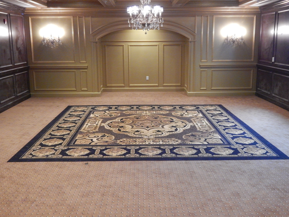 Custom carpet inlay