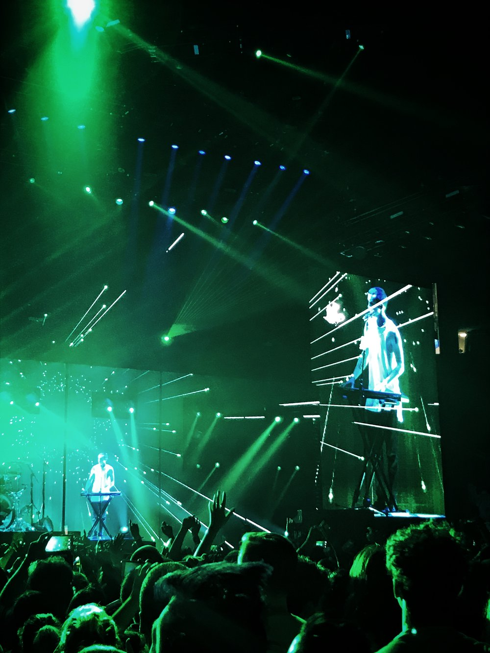 Twenty One Pilots as they begin to close a fantastic performance of their self-titled tour at Golden 1 Center in Sacramento, California.
