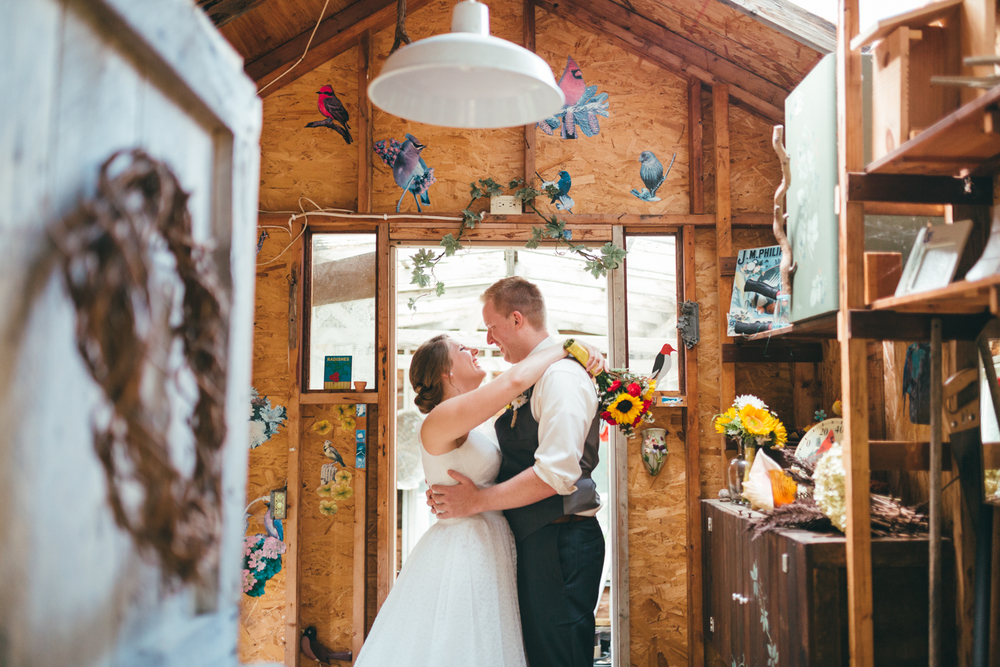 Backyard Wisconsin Wedding