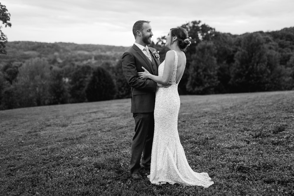 Romantic Nashville country wedding portrait