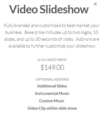 A La Carte Options are Only Available as an Add-On to a Business Headshot Package