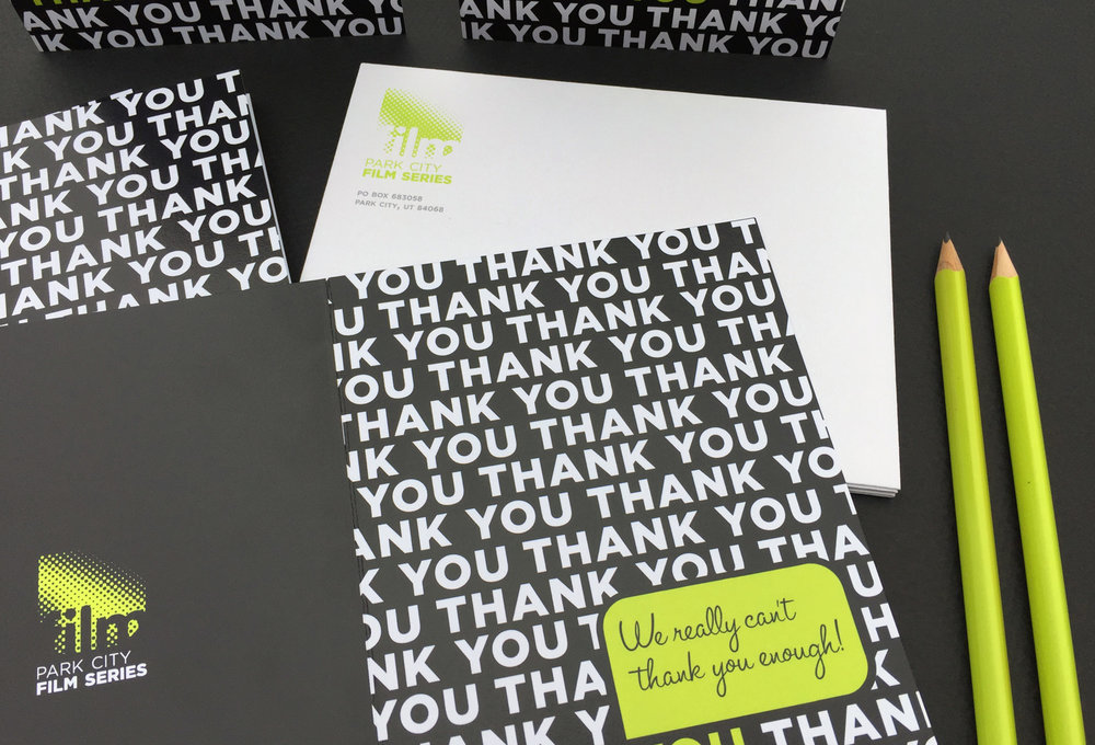 Thank you card + envelope