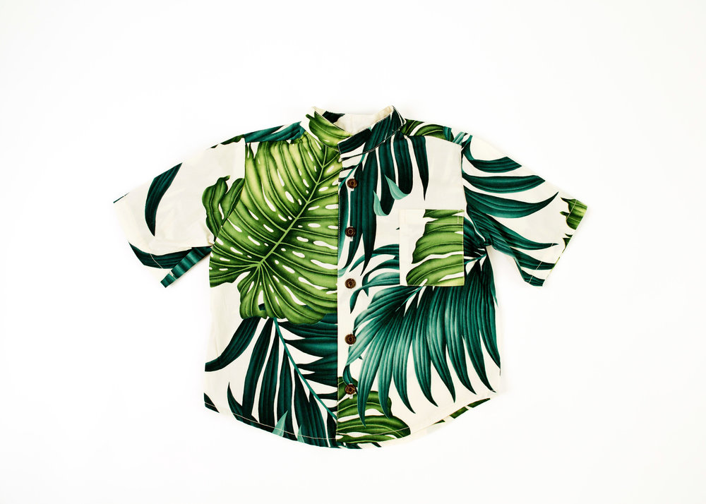 Coradorables Hawaii Leaf aloha shirt