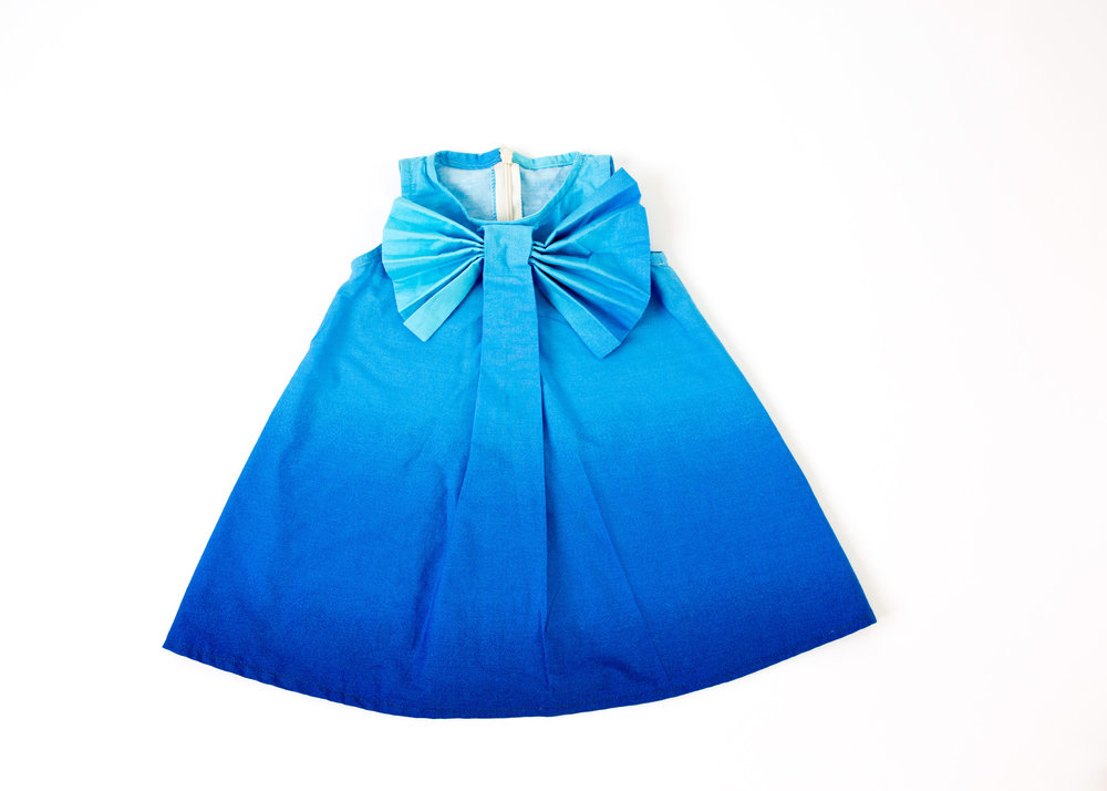 Coradorables Sea Blue Ombre Bow Dress