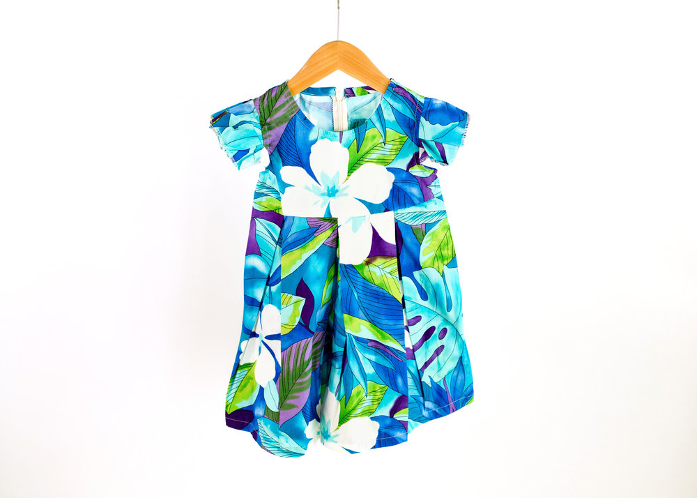 Coradorables Blue Hawaii Romper