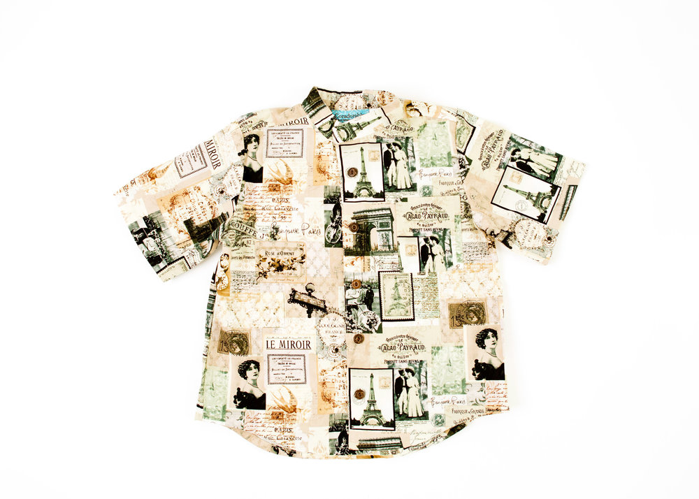 Coradorables Vintage Postcard aloha shirt