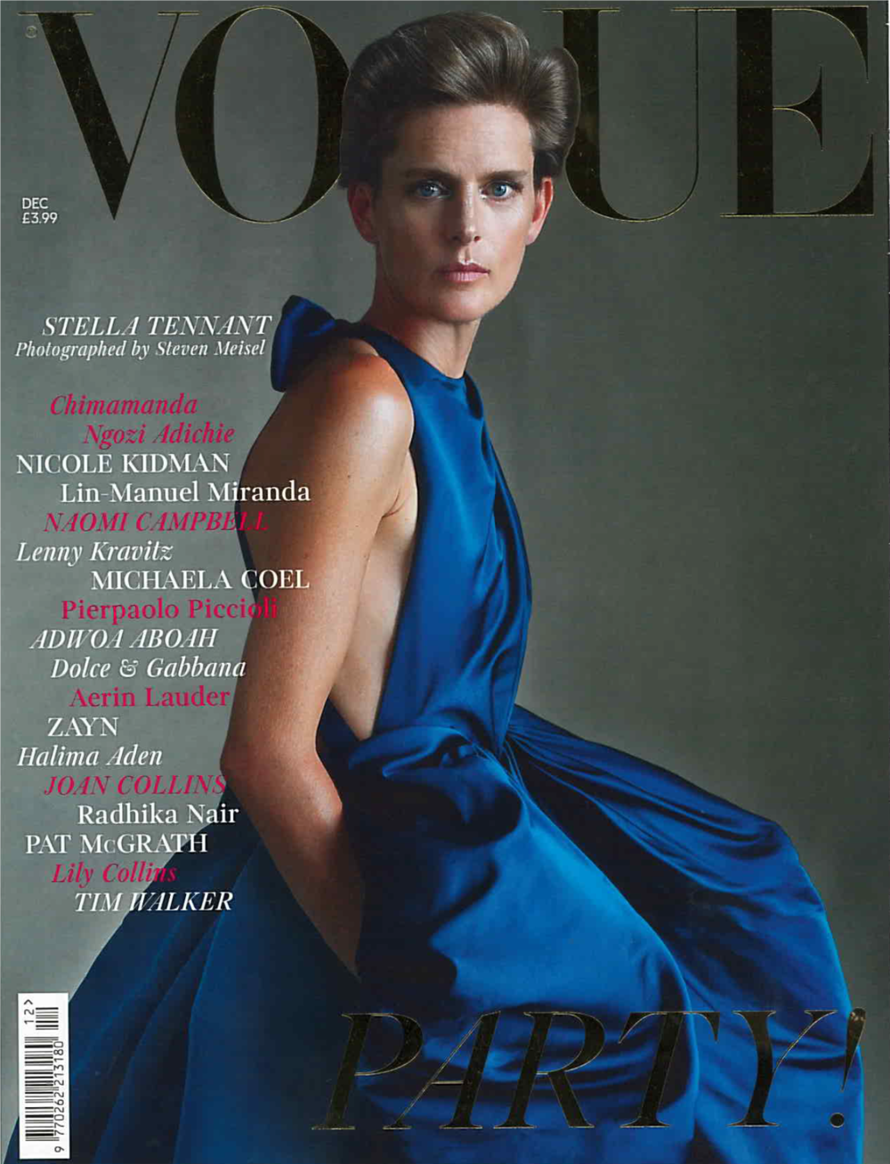 Britist Vogue Dec. 2018 Stella Tennant Cover