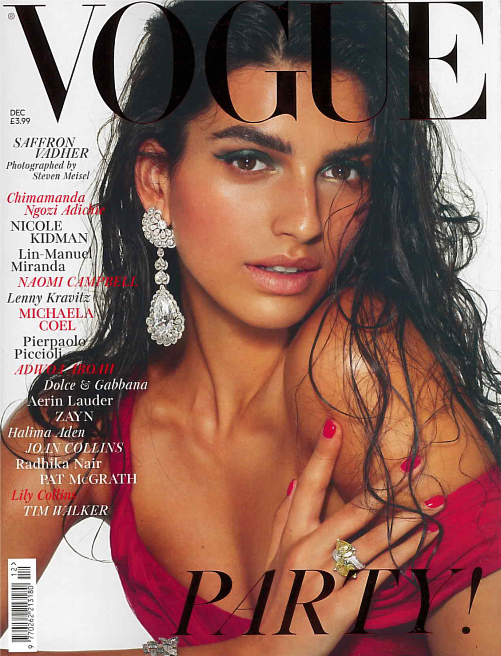 Britist Vogue Dec. 2018 Saffron Vadher Cover