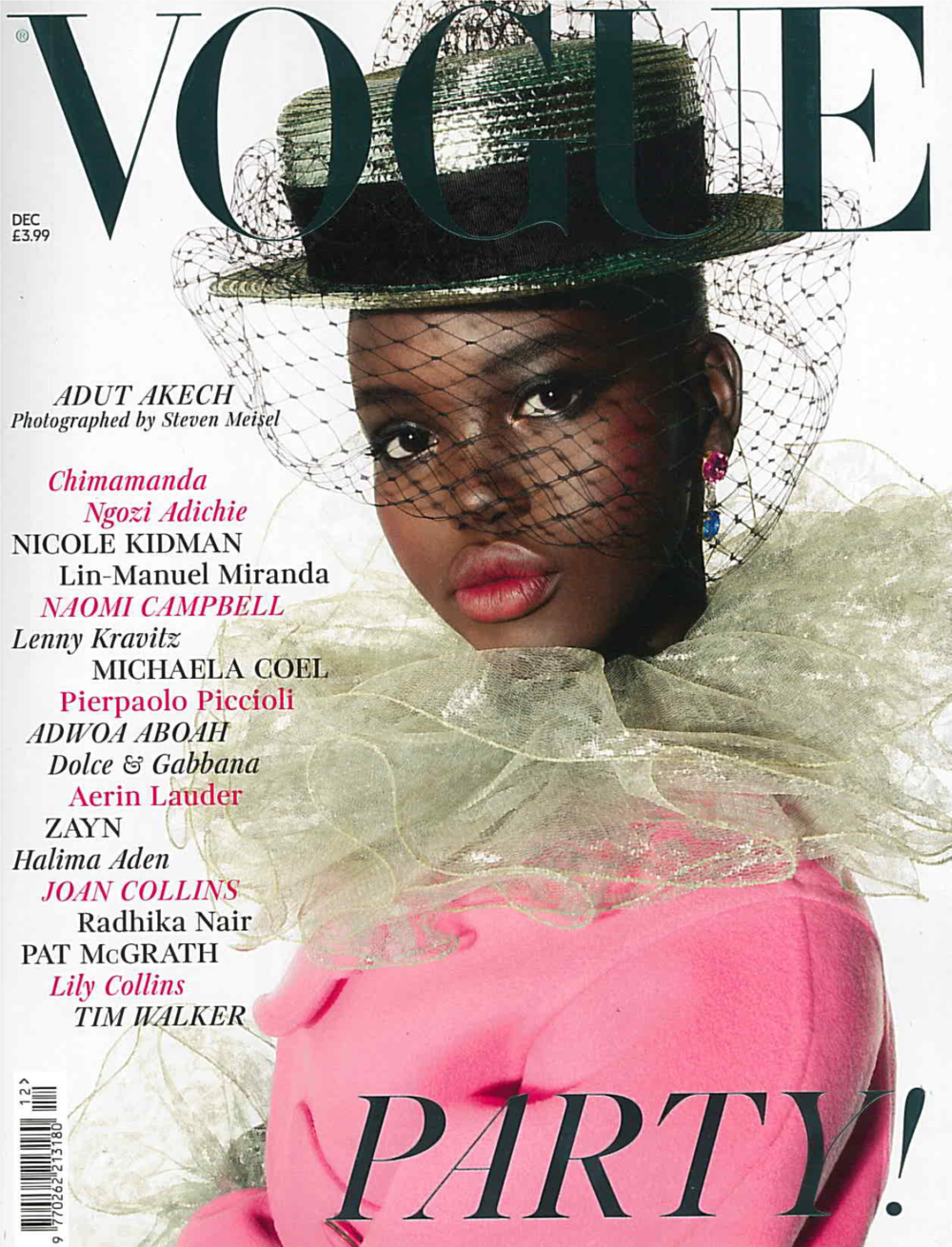 Britist Vogue Dec. 2018 Adut Akech Cover