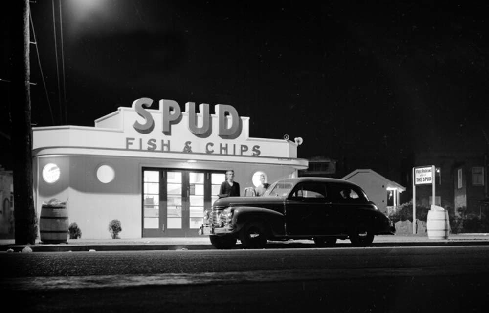 SPUD on Alki Beach, circa 1945. Photo credit  Annie Arnold.