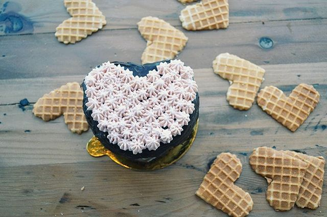 Orders are now open for our Valentine's Day ice cream heart cakes on our website!! Dark chocolate ice cream with homemade raspberry jam on rich chocolate cake and raspberry whipped cream piped on top of gooey drips of fudge. Pick up the day before or day of! We'll have a very limited number of cakes available to those who don't pre-order, so be sure to reserve one! Bonus: we have a vegan option available!