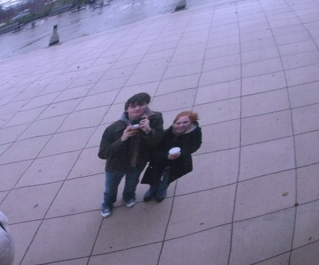 Our second date. Downtown Chicago at The Bean.