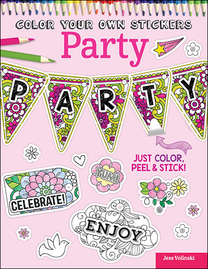 Color You Own Stickers: Party